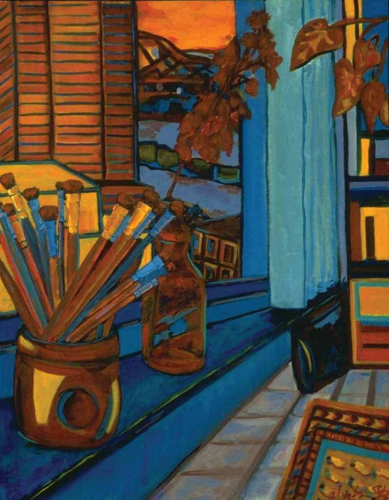 Brushes, 1996, oil on canvas