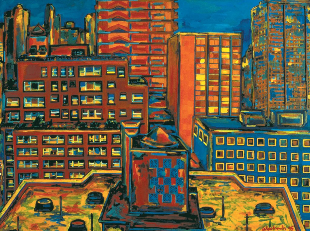North View, 1995, oil on canvas