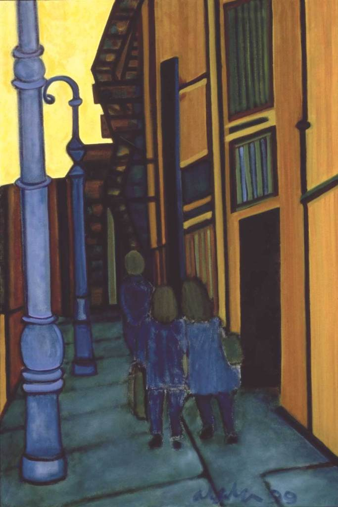To Bleecker Street, 1999, oil on canvas