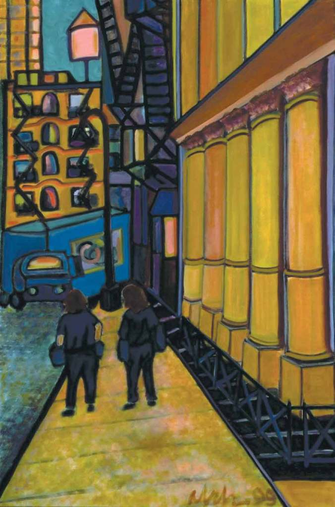 To Canal Street, 1999, oil on canvas